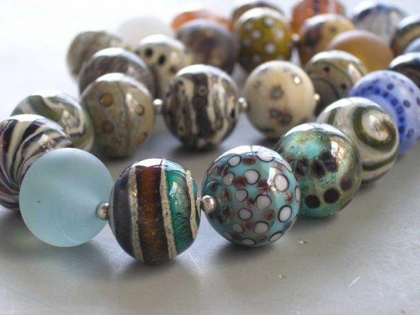 Collar Único, Perlas, Vidrio Murano