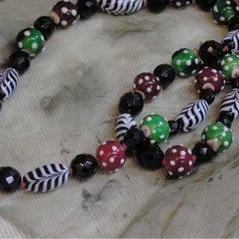 Collar ANA, Perlas de Vidrio de Murano y Plata