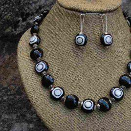 Collar POP beige, Perlas de Vidrio de Murano