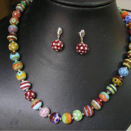Collar Circus, Perlas, Vidrio Murano